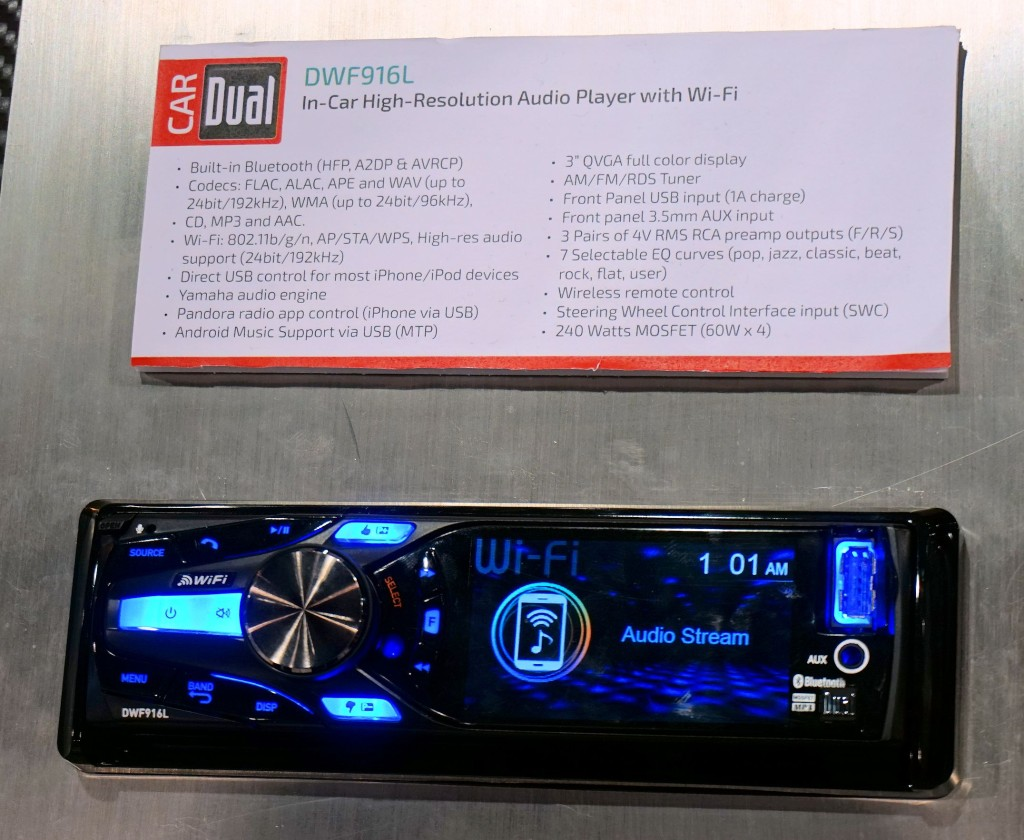 In car high resolution audio player