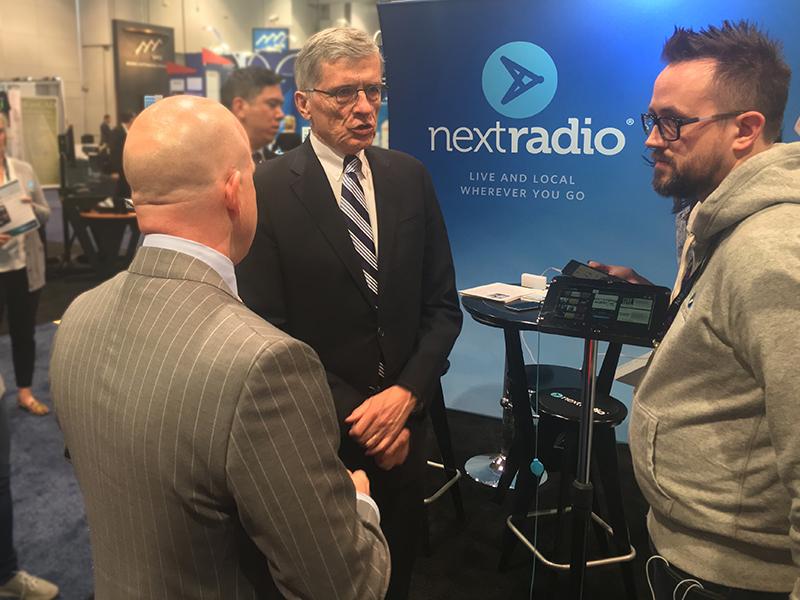Tom Wheeler at the NextRadio Booth