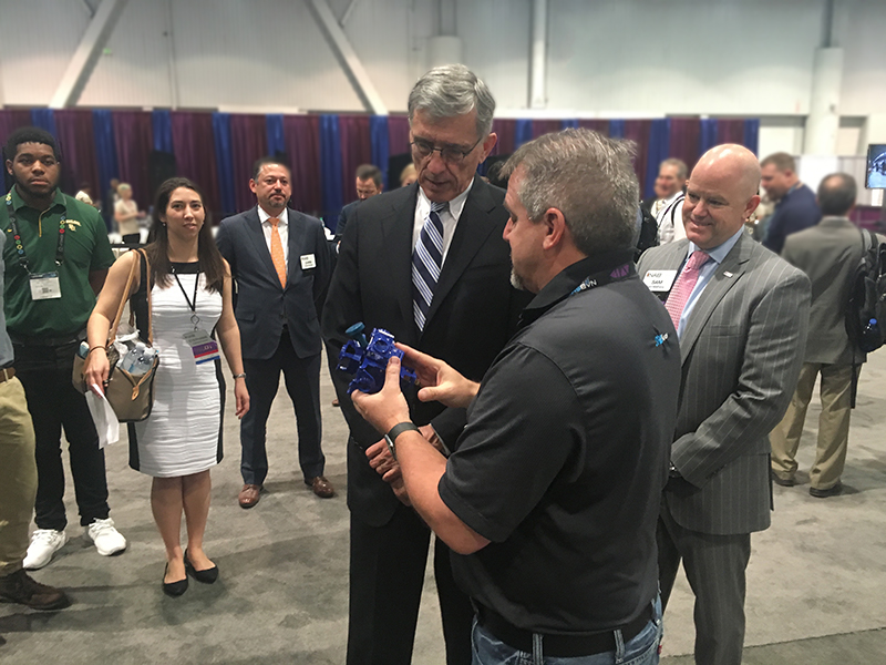 Tom Wheeler at the 360 Hero booth on the show floor
