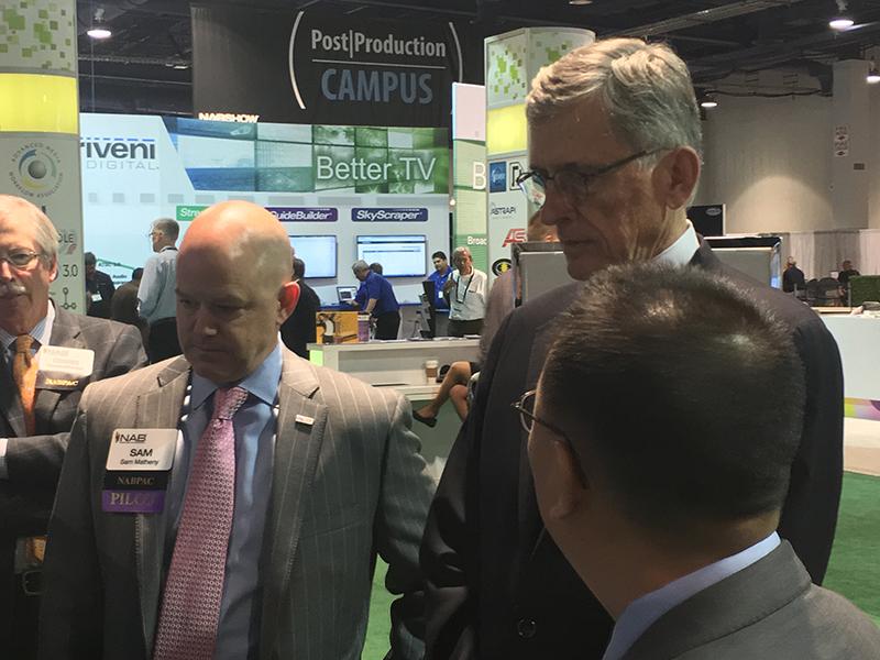 Tom Wheeler, So Vang and Sam Matheny at the PILOT ATSC Home Gateway