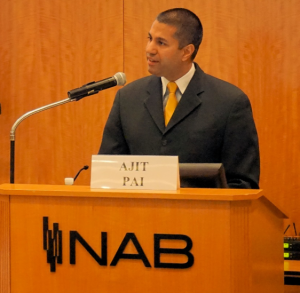 FCC Chairman Ajit Pai addresses the NABA Future of Radio and Audio Symposium.