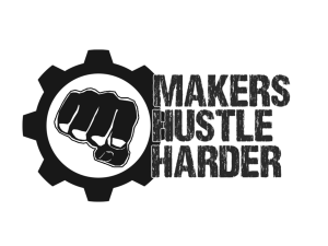 Makers Hustle Harder logo