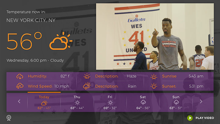 Example ATSC 3 Weather App
