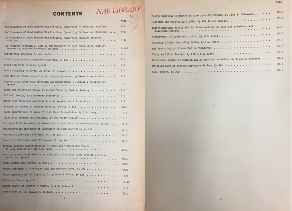 first edition of the NAB Engineering Handbook