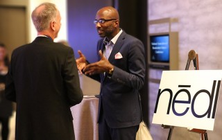 Ayinde pitches nēdl at the 2017 Innovation Challenge