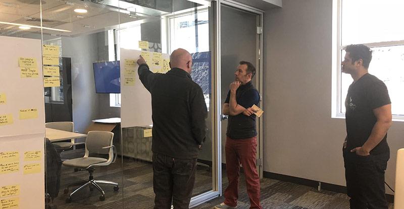 Design sprint planning at Darkfield