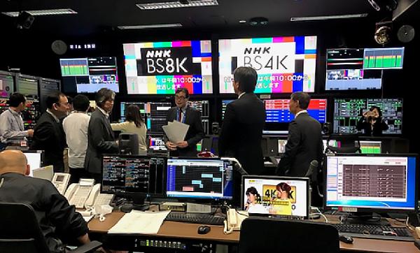NHK Super Hi Vision 8K Control Room