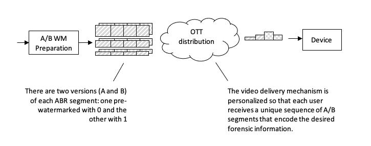 Figure 1: A/B forensic watermarking